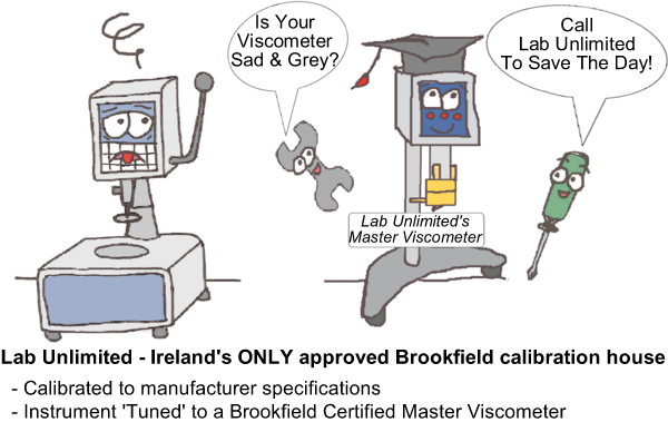 Is your viscometer sad and grey? Call Lab Unlimited to save the day!