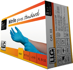 Labware Standard Nitrile powder-free disposable gloves