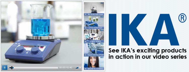 Laboratory Slide See IKA's Exciting Products in Action In Our Video Series