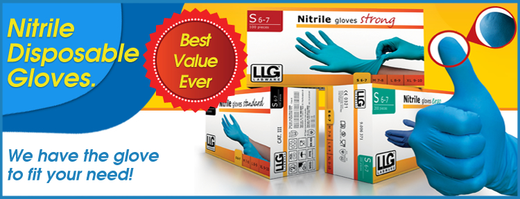 Laboratory Slide Nitrile Gloves