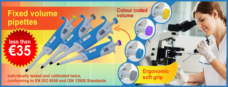 Laboratory Fixed Volume Pipettes For Less Than 35 Euro
