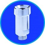 Stainless steel ball flange, socket with thread