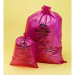 Biohazard Disposal Bags, PP, Red, 38µm