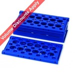 Heathrow Scientific Tube Pop-Up Rack Foldable Blue HS24320B