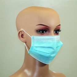 Disposable Face Mask with Earloops Pack of 50 Global-Labware 7667034